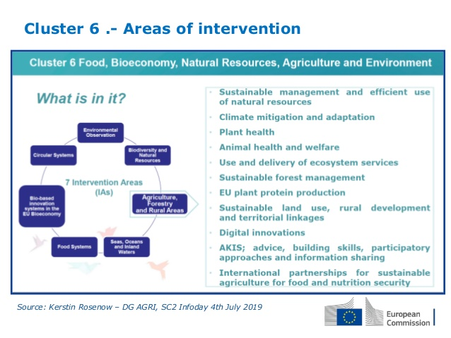 Cluster 6 – Food, Bioeconomy, Natural Resources, Agriculture and Environment