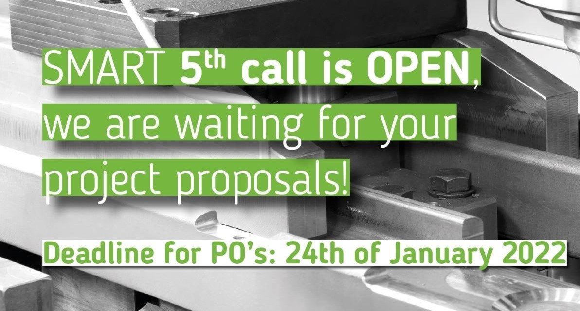 SMART 5th Call for Projects is open